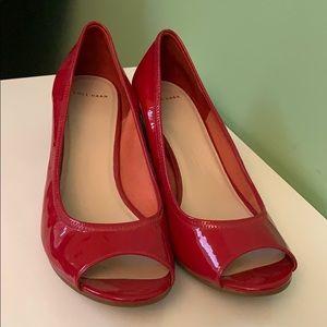 Red peep toe wedge heel - Cole Haan